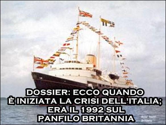 1992, panfilo Britannia: si vende l'Italia